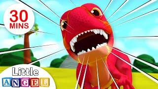 Download Baby T-Rex - Dinosaurs Song | Kids Songs & Nursery Rhymes Little Angel Video