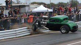Download NO!!! 32 FORD Hits Guardrail -vs- Chuck - No Prep Mayhem Video
