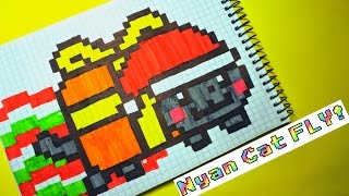 Download Рисуем по клеточкам- Nyan Cat ( Новогодний Nyan Cat)! Video