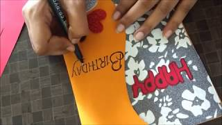 Download Beautiful Handmade Birthday card idea for wife | complete tutorial Video