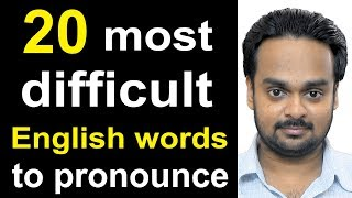 Download 20 Most Difficult Words to Pronounce in English - American vs. British English - Common Mistakes Video