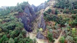 Download Auburn California -Limestone Quarry aerial video Video
