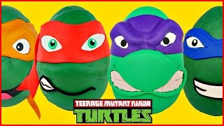 Download TMNT Giant Play Doh Surprise Eggs Opening Teenage Mutant Ninja Turtles Episodes Compilation Video Video