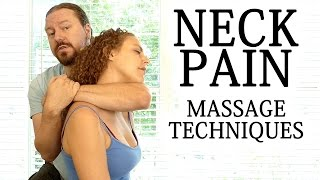 Download Advanced Massage Techniques for Neck, Shoulder, Upper Back Pain, How to Massage, HD, 60 fps Video