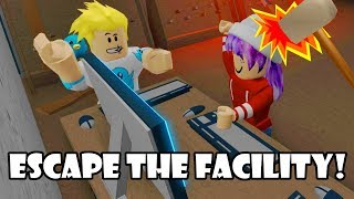 Download HACK THE COMPUTER & FEAR THE BEAST IN ROBLOX ESCAPE THE FACILITY Video