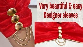 Download Designer sleeves design / Baju ke design for suit, blouse -86- YouTube Video