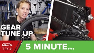 Download 5 Minute Simple Bike Gear Tune-Up | Indexing, Cable Tension & Limit Screws Video