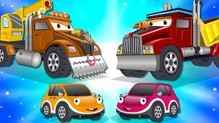 Download Crane Truck vs Super Dump Truck | Police Car Street Vehicles Kids Cartoon Songs Video