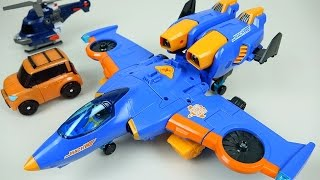 Download TOBOT Airplane 또봇 마하 W - TOBOT transformers car and plane toys Video