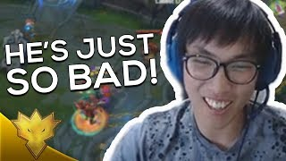 Download Doublelift - ″HE'S ON ANOTHER LEVEL OF BAD!″ ft. Biofrost - League of Legends Funny Stream Moments Video