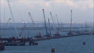 Download Строительство Керченского моста (декабрь, 2016). Video