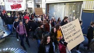 Download Les lycéens de Febus à Orthez manifestent contre la réforme du bac Video