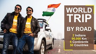 Download ROAD TRIP : 90,000 Km I 6 Continents I 2 Indians I 50 Countries I World Trip By Road Video