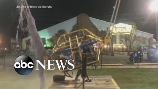 Download Slingshot ride cable breaks seconds before aerial launch l ABC News Video