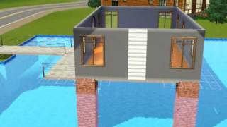 Download Sims3 Build a house over swimming pool tutorial Video