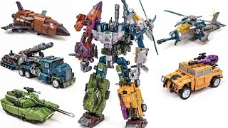 Download Transformers Bruticus Jinbao KO OverSized Warbotron Combiner Robot Car Toys Video