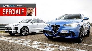 Download Stelvio vs Macan, l'Italia-Germania dei SUV! Video