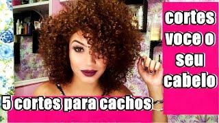 Download Aprenda 5 CORTES para cabelos CACHEADOS para voce CORTAR SOZINHA , facil e rapido Video