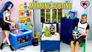 Download LOL Punk Boi Family Morning Routine - Custom LOL Surprise Barbie Dolls Video