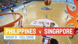 Download Philippines v Singapore - Full Game Group B - 2014 FIBA Asia Cup Video