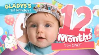 Download Celebrate the Big One - Baby Birthday Show After Effects Template Video