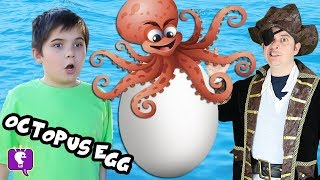 Download Giant OCTOPUS Pirate Surprise Egg with HobbyKidsTV Video