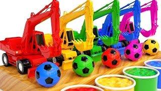 Download Apprendre les couleurs avec des Excavatrices, des camions et des Balles comptines pour enfants Video