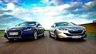 Download Audi TT vs Peugeot RCZ - Fifth Gear Video