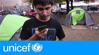 Download The first call home for an Afghan teen in Serbia   UNICEF Video