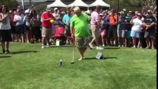 Download John Daly Smashes Ball off Beer Can at Monday After the Masters Video