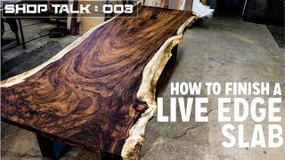 Download How To Finish A LIve Edge Slab | Tips & Tricks Video