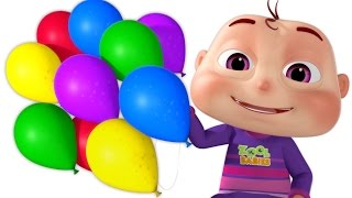 Download Five Little Babies Blowing A Balloon | And Many More Baby Songs | 3D Rhymes For Children Video