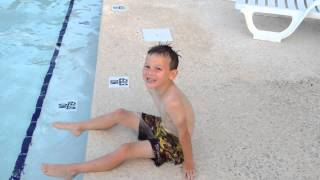 Download Kid pees in the swimming pool Video