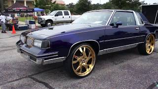 Download Purple and Gold G Body Oldsmobile Cutlass on Gold Forgi's Video