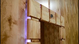 Download Upcycling an old wardrobe door into lighted wall mirror Video