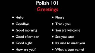 Download Polish 101 - Greetings - Level One Video