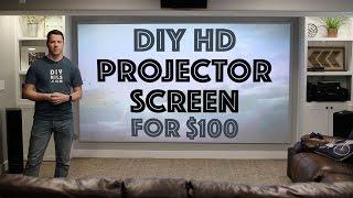 Download DIY HD Projector Screen for $100 Video