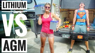 Download AGM vs Lithium Ion Battery For Solar in a DIY Camper Van or RV Solar Battery Bank Video