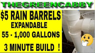 Download 5 Dollar RAIN BARRELS 55 gallons to 1000 gallons - RAIN WATER COLLECTION & STORAGE Video