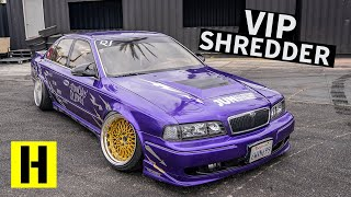 Download A 1JZ Swapped Nissan Q45 VIP Build That Rips Harder Than it Parks?? Video