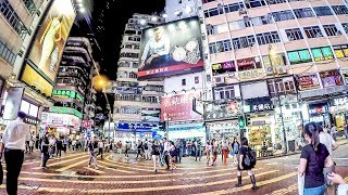 Download Hong Kong Night Walk Around Causeway Bay and Times Square Video