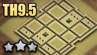 Download TH9.5 (Walls, Traps) War Base Anti 3 Star 2017 | TH10 No Inferno, No 3rd Xbow | Clash Of Clans Video