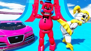 Download YOU WON'T BELIEVE WHAT RED TOY FREDDY & GOLDEN BABY DID! (GTA 5 Mods For Kids FNAF) RedHatter Video