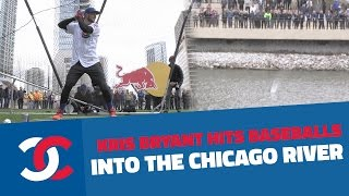 Download Kris Bryant Hits Baseballs Into The Chicago River Video