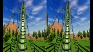 Download 3D Active/Passive - Roller Coaster - Test 3D Side by Side Video