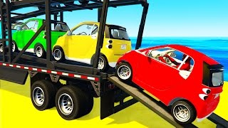 Download Small CARS Transportation and Spiderman in Funny Cartoon for Children and Kids Nursery Rhymes Video