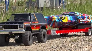Download Speed Boat LAUNCH & RIP - Traxxas TRX4 & ″Rock n Roll″ Spartan | RC ADVENTURES Video