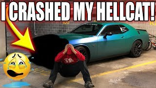 Download I CAN'T BELIEVE I CRASHED MY HELLCAT SMFH!! Video