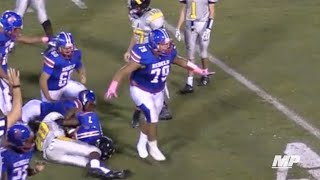 Download 270-pound kicker hands out hitsticks Video