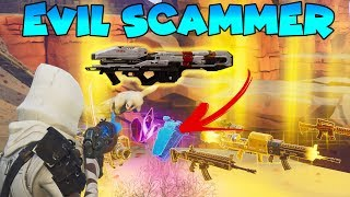 Download Evil Scammer Nearly Scams 10 LEGENDARY GUNS!! (Scammer Gets Scammed) Fortnite Save The World Video